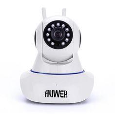 Professional Camera by Auwer 2 Way Audio Chatting Baby Camera WiFi IP Security Pan Camera White - Visiocology Camera World, Ip Camera, Professional Camera, Security Surveillance, Home Security Systems, Landline Phone, Wifi, Audio, Baby