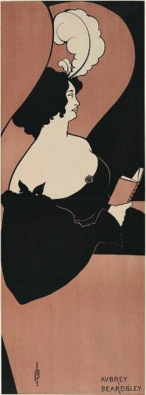 Aubrey Beardsley  Woman Reading  1893-94