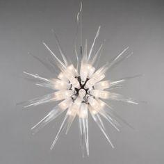 Lámpara colgante White Sun 45- luces- Lámpara colgante perfecta para la iluminación de su casa con 45 bombillas de halógenos y un diámetro de 100cm. ¡Esta lámpara es una obra de arte!