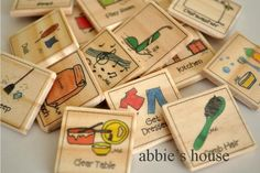 Create Your Own Set  - additional chore chart magnet set of 12. $9.00, via Etsy.