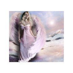 Pink angel - 3D and CG Wallpaper 488040 - Desktop Nexus Abstract ❤ liked on Polyvore featuring angels, models, backgrounds, people and wings/angels
