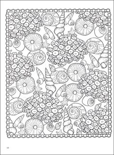 SEASHELLS PATTERNS sample colouring pages FREE from Dover