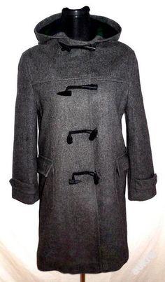 Dívčí šedočerný vlněný kabát na vidlice, BE, 152