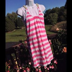 Adorable Braided Polo Assn. Pink/White Dress Adorable Braided Polo Assn. Pink/White Dress Tag says XL, but it's a Junior's XL. Fits adult women Sizes up to 8. 55% Cotton 45% Polyester. Polo Assn. Dresses