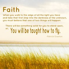 Faith quote from Patrick Overton
