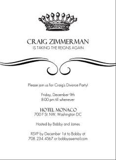 Divorce Party Invitations