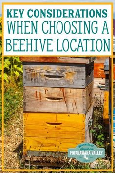 If you are planning on keeping bees, you need to choose the location of your beehive carefully. A beehive can fit in to almost any location with some considerations. Bee Friendly Flowers, Honey Bee Hives, Honey Bees, Bee Hive Plans, Beekeeping For Beginners, Backyard Beekeeping, Future Farms, Hobby Farms, Busy Bee