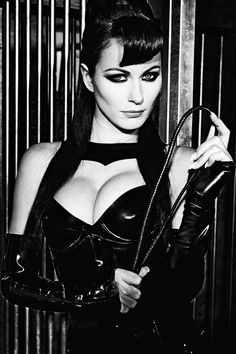 Sexy dominatrix outfit.