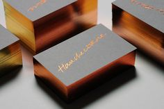 metallic business cards - Google Search