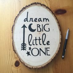 Dream Big Little One Wood Sign Newborn by EthelsGranddaughter
