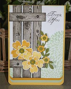 Perfect use of woodgrAin embossing folder which I just ordered!