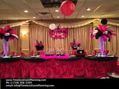 Masquerade Party Centerpieces | kimberley-masquerade-sweet-16-roma-view-hot-pink-black-white-trumpet ...