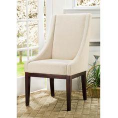 Safavieh Fabric Sloping Arm Chair Dining Chair Idea