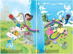 My covers for issue #1 of the upcoming Adventure Time Regular Show crossover coming in August from BOOM! Studios http://ew.com/books/2017/05/18/adventure-time-regular-show-comic-crossover/&#8...