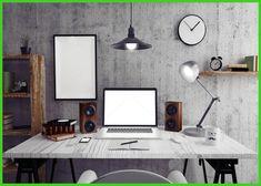 home office Loft workspace Light clock scene Backgrounds Vinyl cloth Computer print wall backdrop