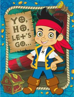 Jake and the Never Land Pirates Party Invitations 8pk