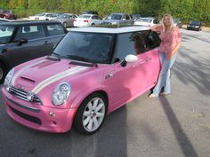 pink mini cooper! OMG!! you dont even know how much i love mini coopers!