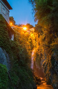 Nesso Waterfalls, Lake Como, Italy