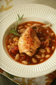 Braised Rabbit Recipe With Cannellini and Tarragon