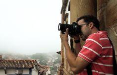 Thiago Inter registrando as maravilhas em Ouro Preto, Minas Gerais...