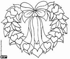 Desenho De Uma Corona Natal A Forma Um Cora O E Decorado