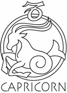 Capric rnio saturno casa 10 on pinterest capricorn for Capricorn coloring pages