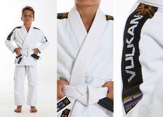 Vulkan Pro Light, KIDS Jiu-Jitsu Gi WHITE 31600 judo grappling bjj Brazilian mma #Vulkan