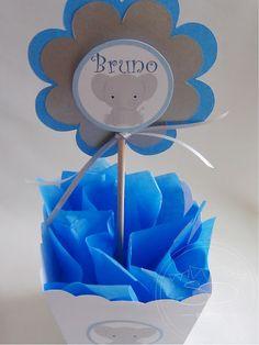 SD Eventos: ELEFANTITOS BABY Centro de mesa Elefantito Centerpiece baby elepant