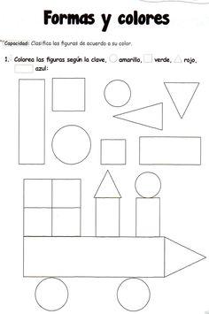 Ficha imprimibles de matemáticas para 5 años. Tema: formas y colores  Formas y colores: clasifica las figuras de acuerdo a su color. Haz clic en el enlace de abajo para descargar