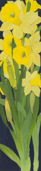 Daffodil Panel III by Helen Lucas (contemporary), Canadian (helenlucas)