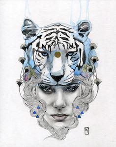 Patricia Ariel / White Tiger