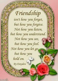 Friendship is everything. The bond of a friend is a relationship that lasts a lifetime. To celebrate the power of friendship, we have 10 beautiful friend quotes that you are sure to enjoy. Friendship Thoughts, Short Friendship Quotes, Genuine Friendship, Happy Friendship, Friend Friendship, Friendship Cards, Beautiful Friend Quotes, Special Friend Quotes, Friend Poems