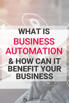 Business automation is nothing more than a series of processes that automate certain tasks and areas of operation within your business. Business Entrepreneur, Business Marketing, Business Tips, Online Business, Growing Your Business, Starting A Business, Good Time Management, Career Inspiration, Business Organization