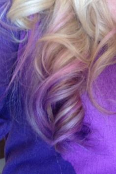 """Lavender dip dye by Ryan Boyle of Karma Salon.  Ryan Boyle is a national platform artist for """"Rock Your Hair"""" products and owner of Karma Salon in Springfield, MO."""