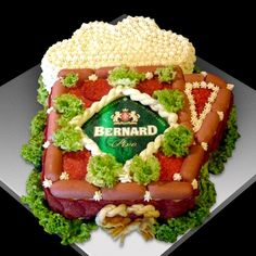 Slané torty | Tortysnov.sk Sandwich Cake, Sandwiches, Fruit Art, Food Humor, Canapes, Creative Food, Tart, Gingerbread, Wrapping