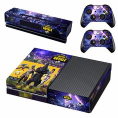 Fortnite xbox one skin decal for console and 2 controllers Epic Games Fortnite, Xbox One Games, Manette Xbox One, Nintendo Switch, Videogames, Console Xbox One, Custom Consoles, Xbox One Skin, Video Game Posters