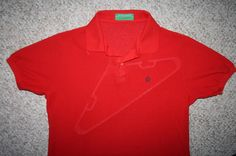 Munsingwear Grand Slam penguin polo shirt solid red Mens Choice large cotton  #MunsingWear #PoloRugby
