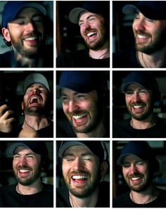 Chris Evans | Beautiful laugh <3<3<3 -B.R.