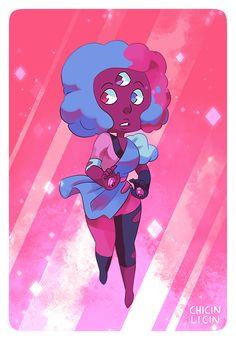 First Garnet! :D …fluffy candy Garnet~ ALL THE GEMS! Garnet   Amethyst   Pearl   Steven   Rose   Sugilite   Opal   Lapis   Alexandrite   Peridot   Stevonnie   Ruby   Sapphire   Jasper   Malachite  ...