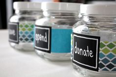 Teaching kids about money - save, spend, donate