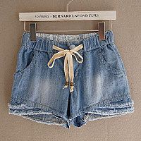 Suihua shorts denim shorts summer shorts in denim hot pants elastic waist shorts women