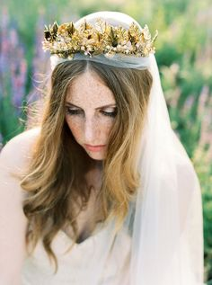 Ethereal Gold Headpieces For Brides by Beretkah