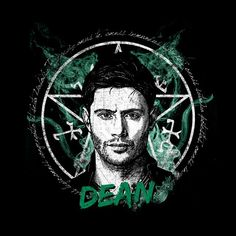"""Dean"" by Ursula Lopez is $10 today at ShirtPunch.com (08/29). #tshirt #Supernatural #DeanWinchester #DeanandSam #WinchesterBros #Scifi"