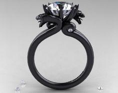 Diamond dragon ring