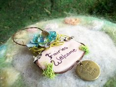 Fairies Welcome Ornament Fairy Sign Fairy Wall by FairiesWelcome