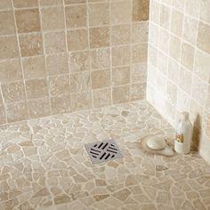 Moza ek tegels tegels badkamer grijs tegelstroken toilet muurstrips toilet badkamer ideeen - Witte steen leroy merlin ...