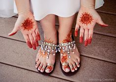 #Wedding #Mehndi hand and feet painted decoration.  Also, these sandals!