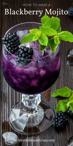 A Blackberry Mojito is refreshing during any season, for any occasion, or enjoyed any day of the week.