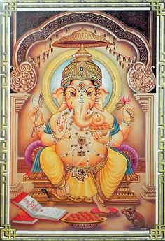 Lord Ganesha remover of obstacles... I can't wait to have the money to start this particular tattoo