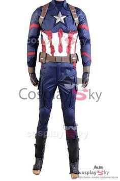 Captain America Civil War Steve Rogers Uniform Cosplay Costume_1